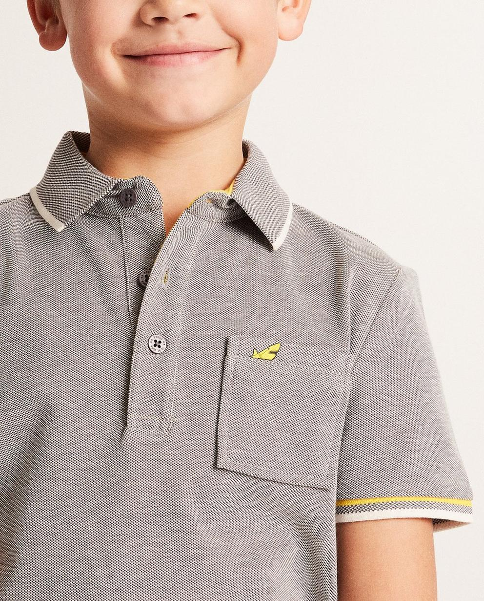 Polos - Dunkelgrau - Polo mit gelben Details